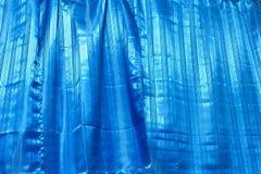 The blue drape texture Royalty Free Stock Photo