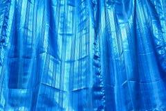 The blue drape texture Stock Photos