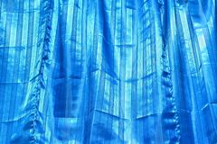 The blue drape texture Stock Photo