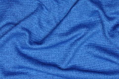 Blue draped fabric Stock Photo