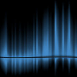 Blue drapes. Reflected.Vector background, 10eps Royalty Free Stock Photo
