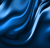 Blue drapes Stock Photos