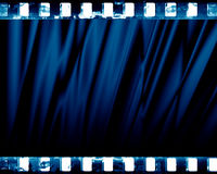 Blue drapes Stock Images