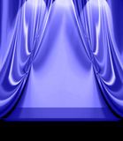 Blue Drapes On Empty Stage Royalty Free Stock Images