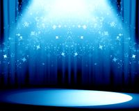 Blue drapes Royalty Free Stock Image