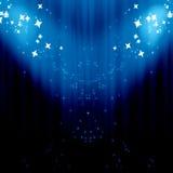 Blue drapes Stock Photo