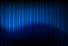 Blue drapes reflected Royalty Free Stock Photos