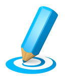Blue drawing pencil concept Royalty Free Stock Images