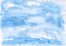 The blue drawn sky on paper Stock Image