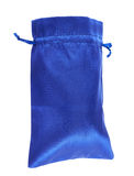 Blue drawstring bag packaging isolated royalty free stock photos