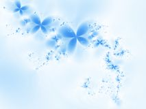 Blue dream. Dreamlike flowers on a light blue background Stock Images
