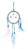 Blue dream catcher isolated on white Stock Images