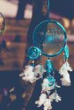 Blue dreamcatcher outdoor shot Stock Image