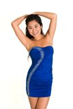 Blue dress Royalty Free Stock Photo