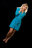 Blue dress Royalty Free Stock Images