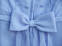 Blue dress bow Stock Photo