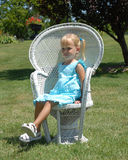 Blue dress chair Royalty Free Stock Photo