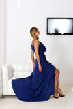 Blue dress Royalty Free Stock Photo