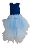 Blue dress for girl Royalty Free Stock Images