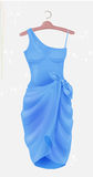 Blue dress.  Outfit for party. Stock Photography