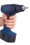 Blue drill - blaue Bohrmaschine Royalty Free Stock Image