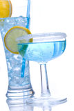 Blue drink Royalty Free Stock Image