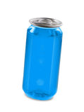 Blue drink can isolated over white background Royalty Free Stock Photos