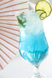 Blue drink cocktail with ice Royalty Free Stock Photo