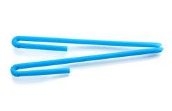 Blue drinking straws Royalty Free Stock Photos