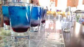 Blue drinks Royalty Free Stock Images
