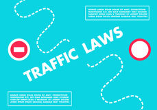 Blue driving horizontal banner traffic laws vector illustration royalty free stock image