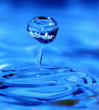 Blue drop Stock Photo