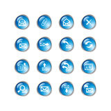 Blue drop e-mail icons Stock Images