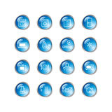 Blue drop household goods icon Stock Photo