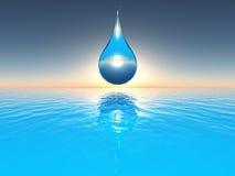 Blue drop Royalty Free Stock Image