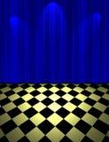 Blue drop scene Stock Image