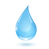 Blue drop towards 2 Royalty Free Stock Images