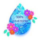 blue drop water Στοκ εικόνες με δικαίωμα ελεύθερης χρήσης