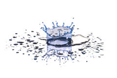 Blue  drop of water Stock Image