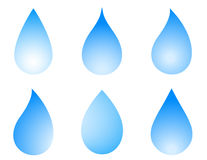 Blue droplet set Royalty Free Stock Photography