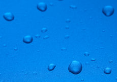 Blue drops Stock Photography
