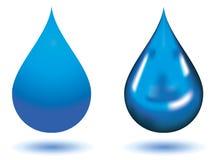 Blue drops Stock Photo
