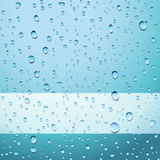 Blue drops background Royalty Free Stock Photos