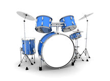 Blue drum set Royalty Free Stock Photo