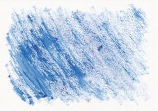 Blue dry horizontal watercolor hand drawn background. Beautiful diagonal hard strokes of the paint brush royalty free stock images