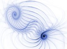 Blue Dual Spirals Stock Photography