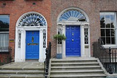 Blue Dublin doors Stock Photo