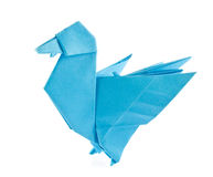 Blue duck of origami Stock Photo