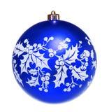 Blue dull christmas ball Royalty Free Stock Photos