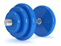 Blue Dumbbell Royalty Free Stock Photography